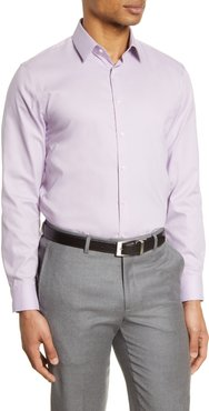 Extra Trim Fit Non-Iron Solid Stretch Dress Shirt