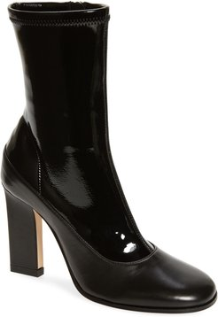 Lesley Mixed Texture Leather Boot