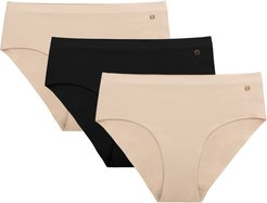 Plus Size Women's Evelyn & Bobbie Assorted 3-Pack Hipster Panties