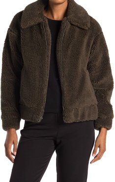 Lucky Brand Short Faux Teddy Fur Jacket at Nordstrom Rack