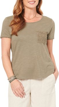 Lace Pocket Jersey Top