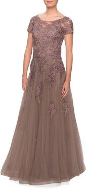 Lace Tulle Gown