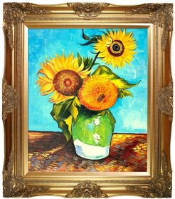 """Overstock Art Sunflowers, First Version Hand Painted Oil on Canvas - 20"""" x 24"""" at Nordstrom Rack"""