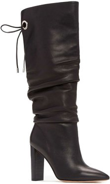 PAIGE Lexi Ruched Leather Tall Boots at Nordstrom Rack