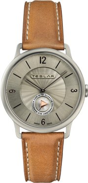 Re-Balance T-1 Leather Strap Watch, 40mm