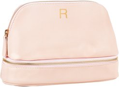Monogram Vegan Leather Cosmetics Case Pink R