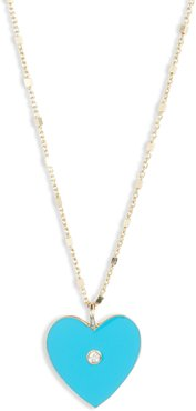 Fifi Diamond Heart Pendant Necklace