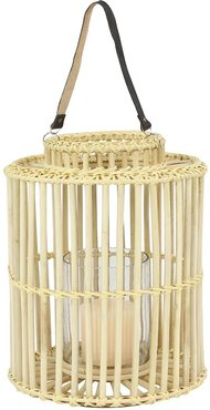 Willow Row Large Cylindrical Natural Rattan Rustic Birdcage Shape Lantern at Nordstrom Rack