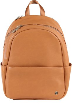 Infant Little Unicorn Faux Leather Diaper Backpack - Brown