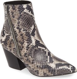 ALLSAINTS Aster Snake Embossed Leather Bootie at Nordstrom Rack