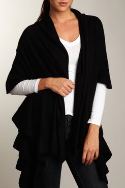 Portolano Ribbed Ruffle-Trim Cashmere Scarf at Nordstrom Rack