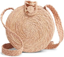Akumal Woven Circle Crossbody Bag -