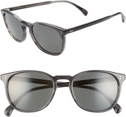 Finely 53mm Round Sunglasses - Charcoal Tortoise