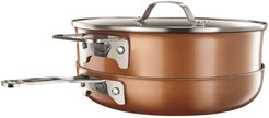 Gotham Steel Stackmaster Copper Casted Textured Non-Stick Space Saving Cookware 8-Piece Set at Nordstrom Rack
