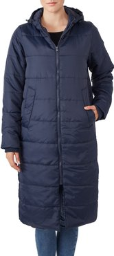 3-In-1 Long Quilted Waterproof Maternity Puffer Coat