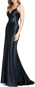 Corseted Satin Gown