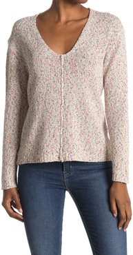 Heartloom Relaxed Fit Marbled Knit V-Neck Sweater at Nordstrom Rack