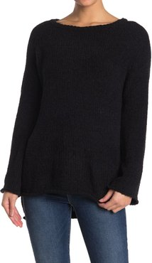 LOVE LILI Ribbed Knit Boat Neck Sweater at Nordstrom Rack