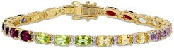 Delmar Yellow Gold Plated Sterling Silver Multi-Color Gemstone Bracelet at Nordstrom Rack
