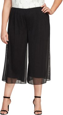 Plus Size Women's Alex Evenings Crop Wide Leg Pants