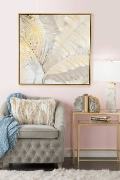 Willow Row Large Square Palm Leaves & Ferns Acrylic Framed Painting at Nordstrom Rack