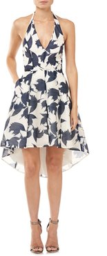 Abstract Floral Cocktail Dress