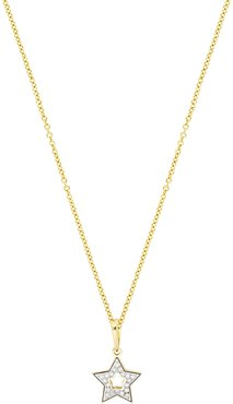 Bony Levy BL Icons 18K Yellow Gold Pave Diamond Open Star Shape Pendant Necklace - 0.05 ctw at Nordstrom Rack