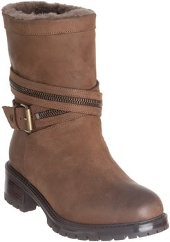Cristiana Genuine Shearling Lined Moto Boot