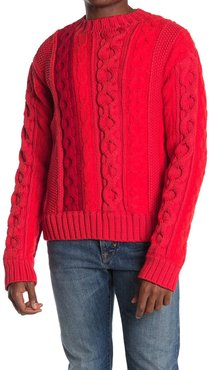 Helmut Lang Striped Cable Knit Sweater at Nordstrom Rack