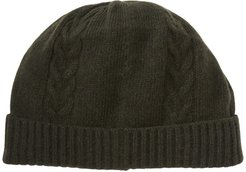 Portolano Cable Knit Detail Cashmere Beanie at Nordstrom Rack