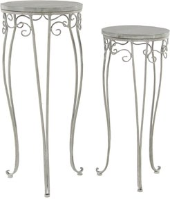 Willow Row Large Traditional Gray Washed Wood and Metal Tricycle Plant Stands - Set of 2 at Nordstrom Rack