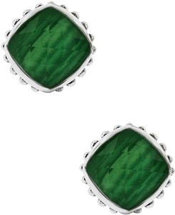 LAGOS Sterling Silver Malachite Cushion Stud Earrings at Nordstrom Rack