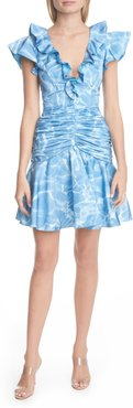 Dante Ruffle Ruched Cocktail Dress