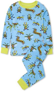 Boy's Hatley Snug Bugs Organic Cotton Fitted Two-Piece Pajamas