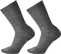 2-Pack Cable Knit Crew Socks