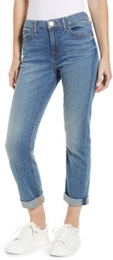 By 7 For All Mankind High Waist Crop Straight Leg Jeans