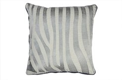 """DIVINE HOME Silver Embroidered Zebra Stripe Throw Pillow - 20""""x20"""" at Nordstrom Rack"""