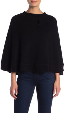 Portolano Cashmere Bow Detailed Poncho at Nordstrom Rack