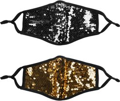 Assorted 2-Pack Sequin Adult Face Masks