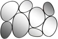 """Willow Row 54"""" x 35"""" Contemporary Geometric Oval Mirrors Wall Decor In Black Iron Frame at Nordstrom Rack"""