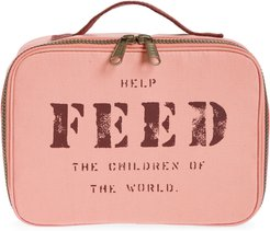 Canvas Lunch Box - Pink