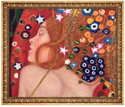 Overstock Art Sea Serpents IV Metallic Embellished by Gustav Klimt Framed Hand Painted Oil Reproduction at Nordstrom Rack