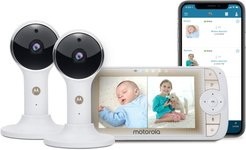 Infant Motorola Lux65 Connect-2 Video Baby Monitor Twin Set