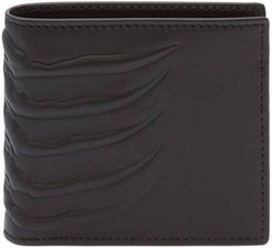 Rib Cage Leather Bifold Wallet - Black