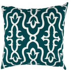 """DIVINE HOME Peacock Green Maira Throw Pillow - 20""""x20"""" at Nordstrom Rack"""