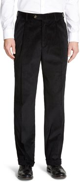 Pleated Classic Fit Corduroy Trousers