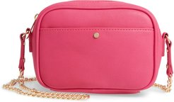 Vegan Leather Camera Bag - Pink