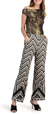 Trina Turk Asia Chevron Wide Leg Pants at Nordstrom Rack