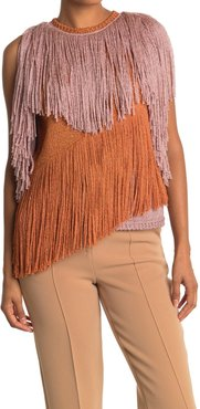 M Missoni Sleeveless Colorblock Fringe Top at Nordstrom Rack
