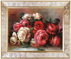 Overstock Art Discarded Roses - Framed Oil Reproduction of an Original Painting By Pierre-Auguste Renoir at Nordstrom Rack